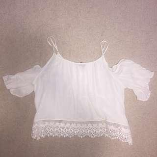 beautiful spring white off the shoulder top