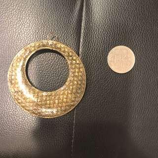 🚚 歐美金屬超大圓圈耳環