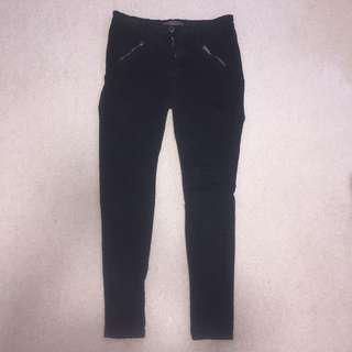 classic black detailed jeans