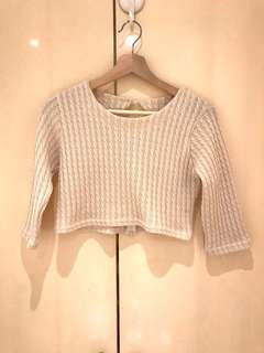 Bling & Chic Knit Crop Top