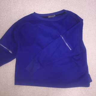 electric blue sweater