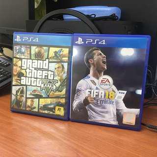 FIFA 18 & GTA V (PS4)