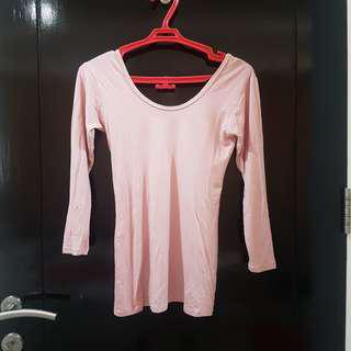 Dusty pink bodycon tshirt