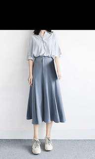 Dusty blue skirt