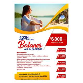 4D3N BREATHTAKING BATANES ALL IN PACKAGE !!!!