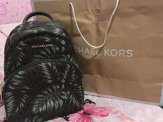Authentic Michael Kors ABBEY BROWN/OLIVE Medium Bacpack