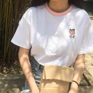 Pink Embroidery Tee
