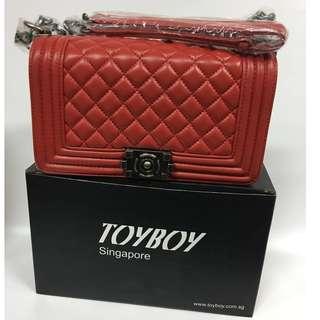 [New Arrival]TOYBOY LUXURY series Lambskin bag 25cm(Red color) CHANEL FUN-FREE ETON 5000mAh powerbank