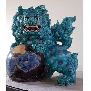 Porcelain Imperial Lion Dog Guardian