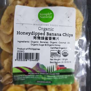 Organic Honeyed Banana Chips