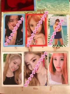 (WTT) TWICE Summer Nights Photocards & Message Card