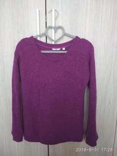 Uniqlo Purple Winter Pullover