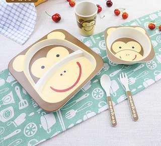 Baby Feeding Set toddler utensils kitchenware animals children day gift