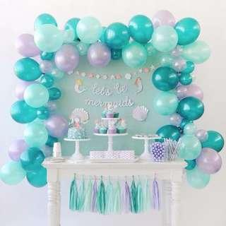 [SETUP] Mermaid 🧜♀️Theme Party Setup