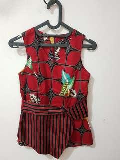 #MauIphoneX modern batik in red