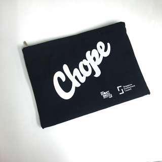 Black 'Chope' Zip Clutch Bag Pouch