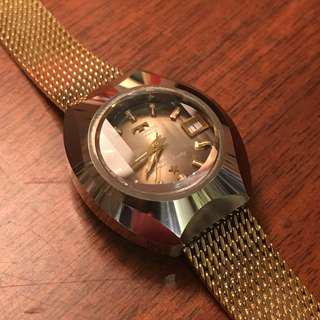 Technos automatic gold Borazon Lady自動機械錶 女裝 70年代