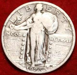 1926 Philadelphia Mint Silver Standing Liberty Quarter