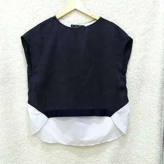 Zara Overlay Top With Back Detail