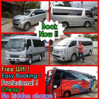Batam transport Rent car with driver