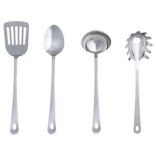 IKEA GRUNKA 4-piece kitchen utensil set, stainless steel