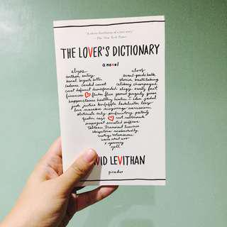 The Lover's Dictionary, David Levithan
