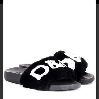 D&G Fur Slides