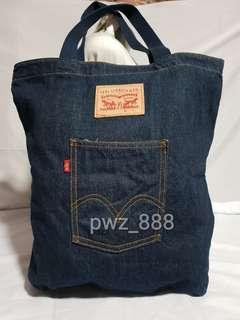 Authentic LEVI'S Large Denim Shopper's Tote Bag