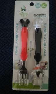 迪士尼Disney米奇日本製造,可愛叉匙組