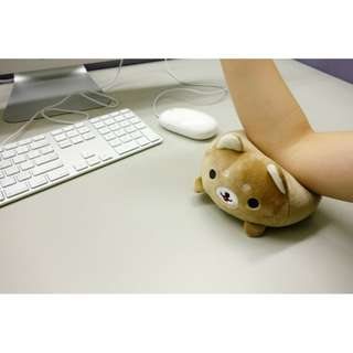 🚚 療愈動物滑鼠墊 護腕墊玩偶 拉拉熊