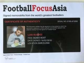 Luis Suarez signed Soccer boot