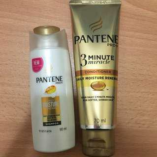 Pantene shampoo and conditioner travel size