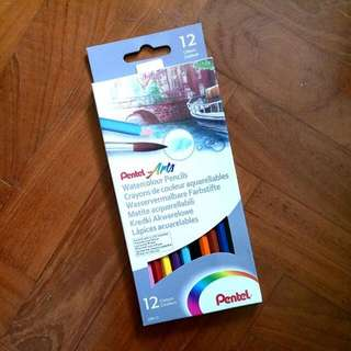 pentel arts watercolour colour pencils