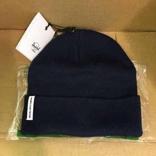 🙀熱到特價🙀Herschel 😍Men's cap 深藍色冷帽