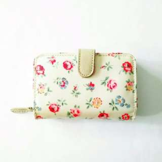 cath kidston folded zip purse in linen sprig floral