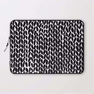 "society6 ""hand knitted black"" 13""/ 13.3""laptop sleeve"