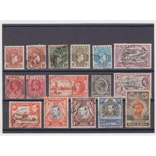 Nigeria and Kenya Uganda Tanganyika old stamps