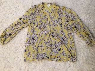 H and m tunic size small