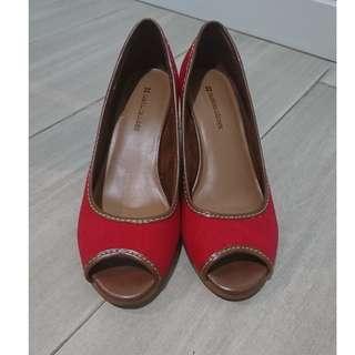 Naturalizer 紅色船跟涼鞋 Wedge Sandals
