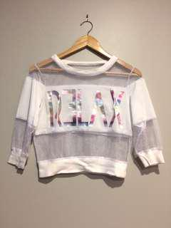 Material Girl Mesh top size S