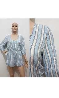 jumpsuit biru muda