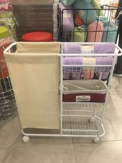 Laundry Cart/Rack with 3 tier storage
