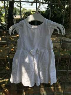 Babygirl White Dress with embroidery