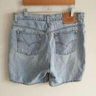Levi's High-Rise Light Wash Denim Shorts
