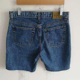 Calvin Klein Low-Rise Indigo Denim Shorts