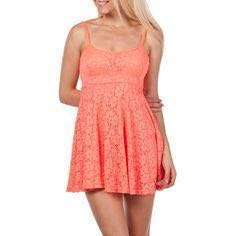 Mooloola orange lace dress