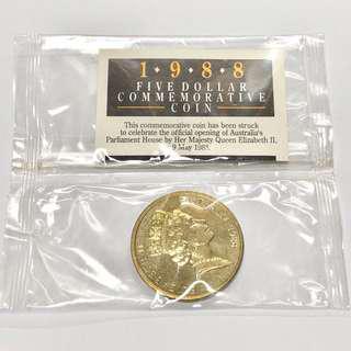 1998年 澳洲 $5 五元 紀念幣 全新未開封