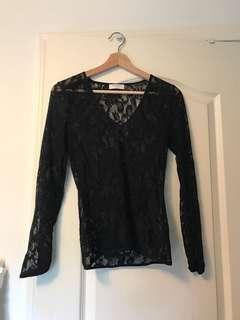 Aritzia x babaton long sleeve lace shirt