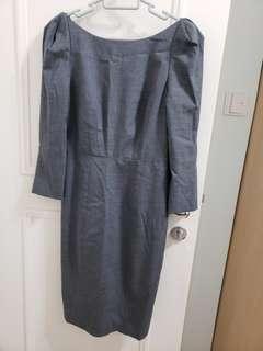 Club Monaco gray dress