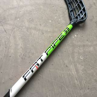 Floorball Stick FAT PIPE Comet 33 White-Green 80cm with Raw Blade Medium